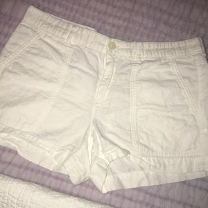 White cotton/linen summer shorts!